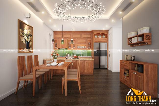 Tủ bếp gỗ Gõ LT22