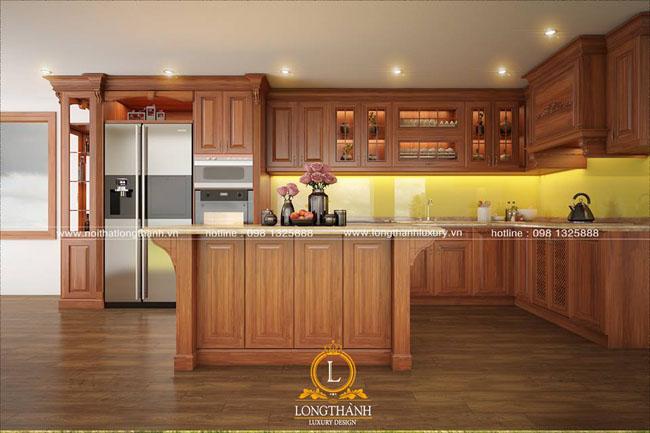 Tủ bếp gỗ Gõ LT27