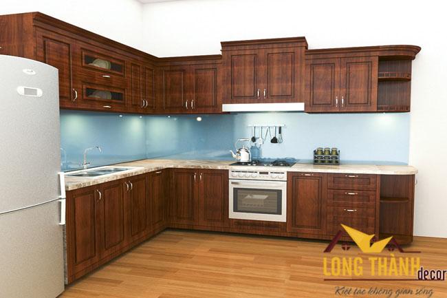 Tủ bếp gỗ hương LT02