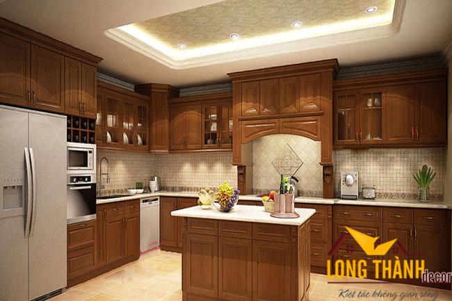 Tủ bếp gỗ Hương LT04