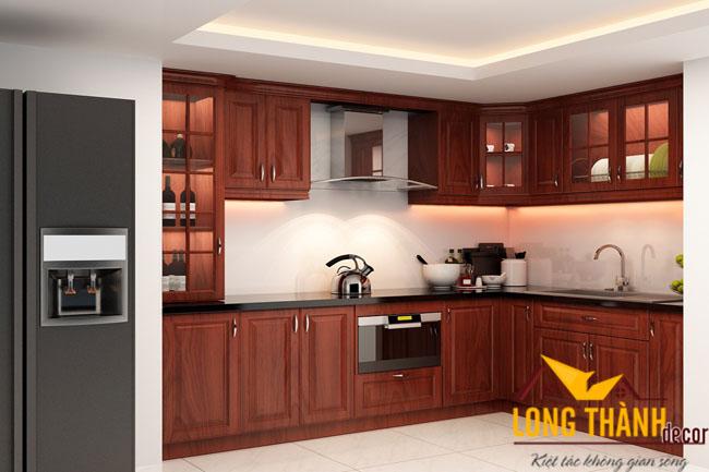 Tủ bếp gỗ Hương LT05