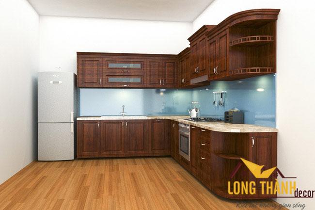 Tủ bếp gỗ Hương LT07