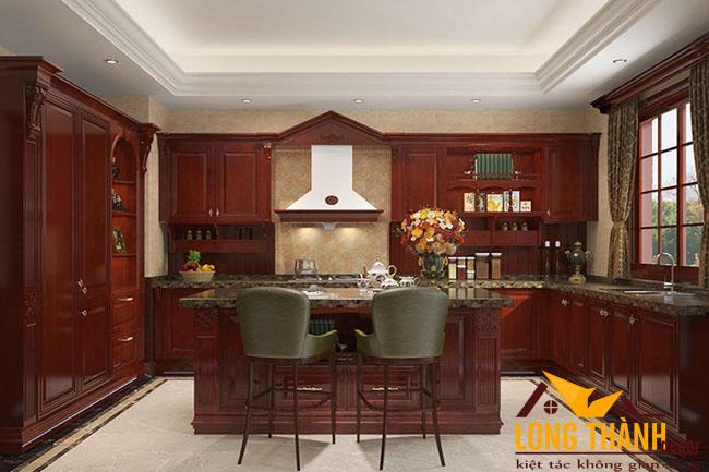 Tủ bếp gỗ Hương LT08