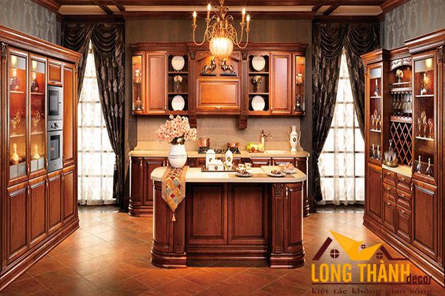 Tủ bếp gỗ Hương LT09