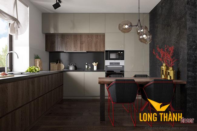 Tủ bếp gỗ Laiminate LT05