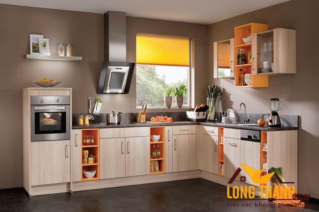 Tủ bếp gỗ Lamiante LT26