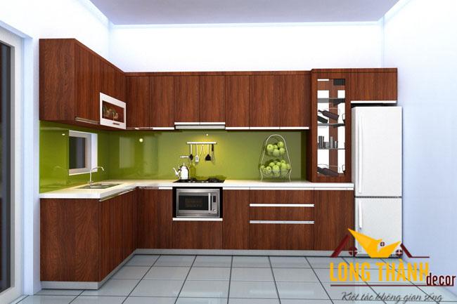 Tủ bếp gỗ Laminate LT01