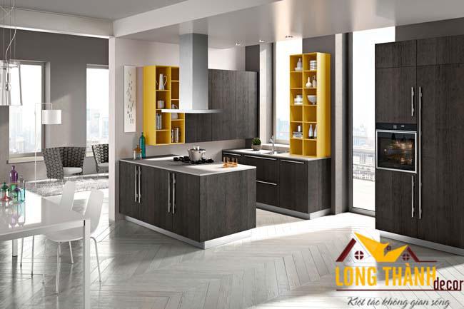 Tủ bếp gỗ Laminate LT02