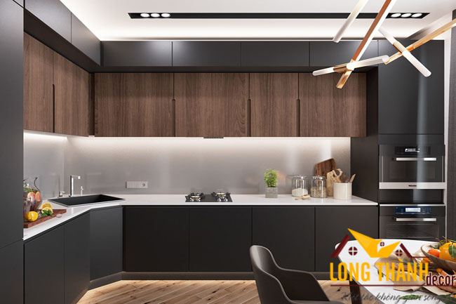 Thiết kế tủ bếp gỗ Laminate LT04