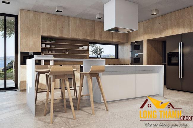 Tủ bếp gỗ Laminate LT06
