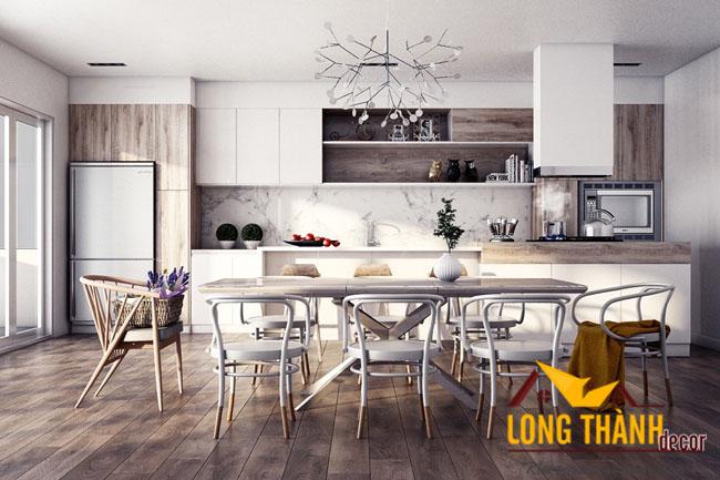 Tủ bếp gỗ Laminate LT09