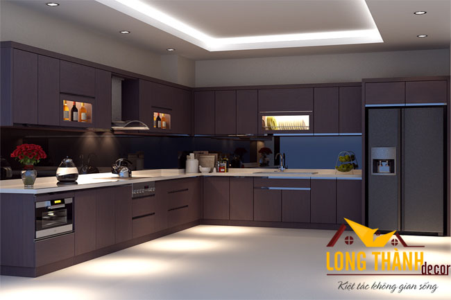 Tủ bếp gỗ Laminate LT10