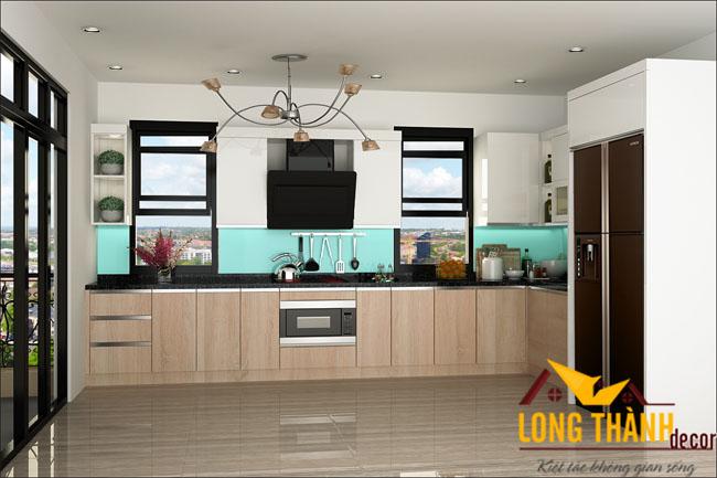 Tủ bếp gỗ Laminate LT12