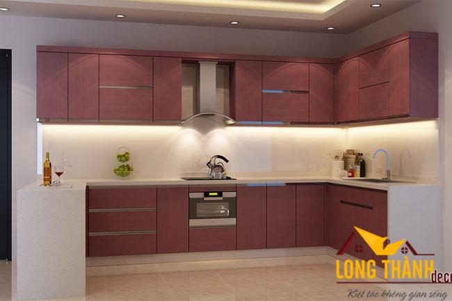 Tủ bếp gỗ Laminate LT14