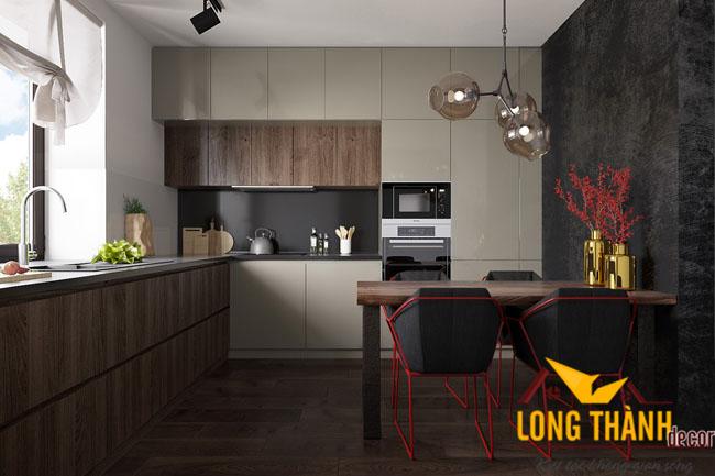 Tủ bếp gỗ Laminate LT16