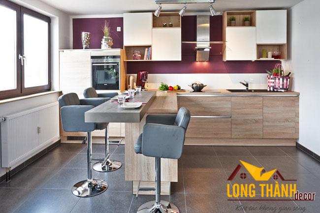 Tủ bếp gỗ Laminate LT21