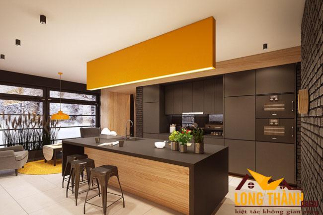 Tủ bếp gỗ Laminate LT25