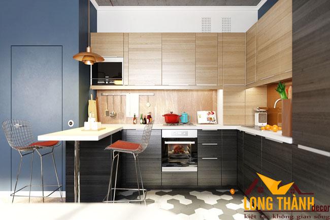 Tủ bếp gỗ Laminate LT26
