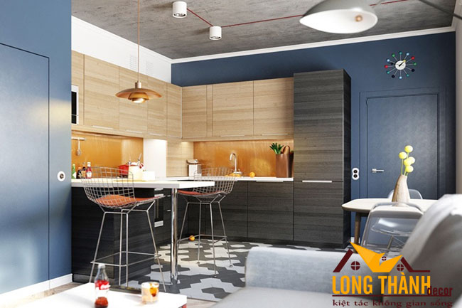 Thiết kế nội thất tủ bếp gỗ Laminate LT26