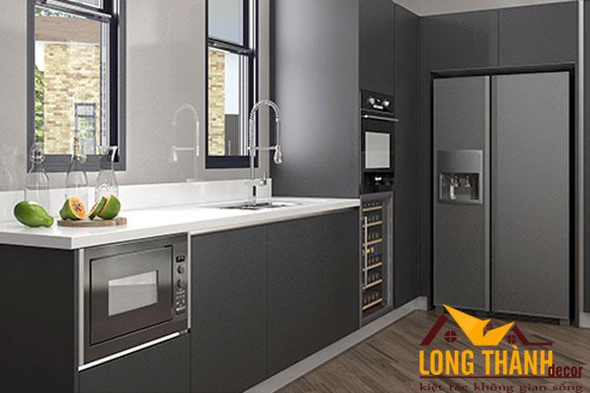 Thiết kế nội thất tủ bếp gỗ Laminate LT29