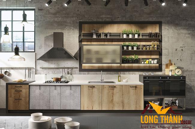 Tủ bếp gỗ Laminate LT33