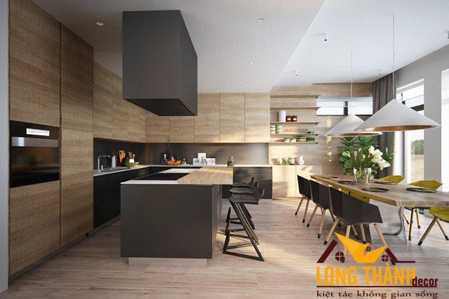 Tủ bếp gỗ Laminate LT34