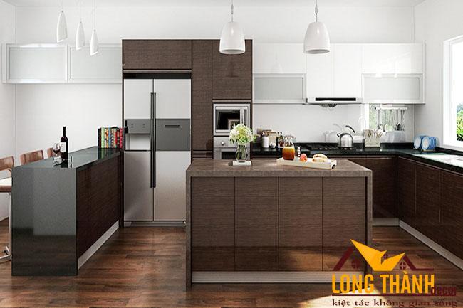 Tủ bếp gỗ Laminate LT35