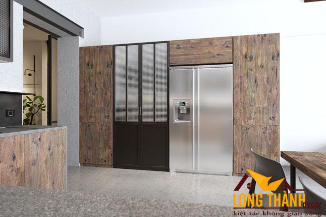 Thiết kế nội thất tủ bếp gỗ Laminate LT37 năm 2017