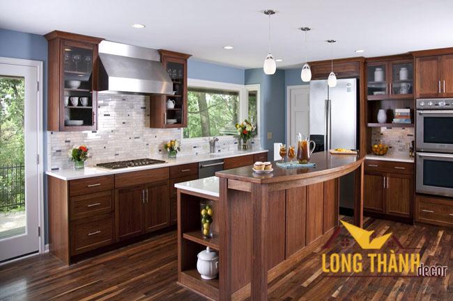 Tủ bếp gỗ Lát LT04