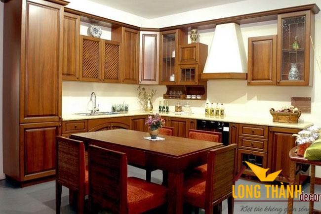 Tủ bếp gỗ Lát LT05