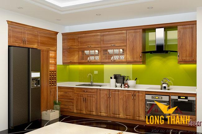 Tủ bếp gỗ Lát LT07