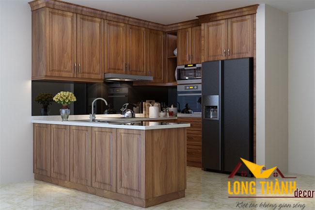 Tủ bếp gỗ Lát LT08