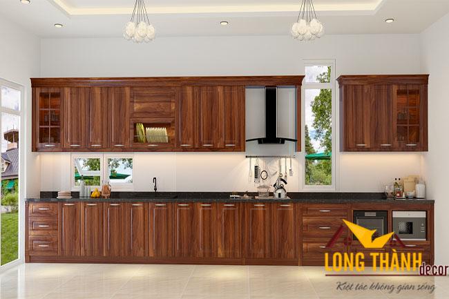 Tủ bếp gỗ Lát LT12
