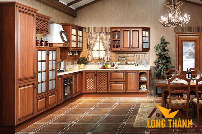 Tủ bếp gỗ Lát LT13