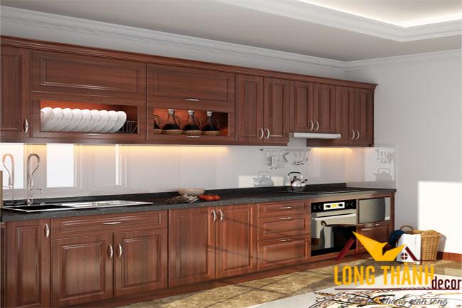 Tủ bếp gỗ Lát TL10