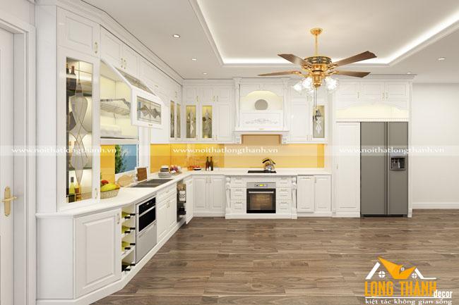 Tủ bếp gỗ Sồi Mỹ LT20