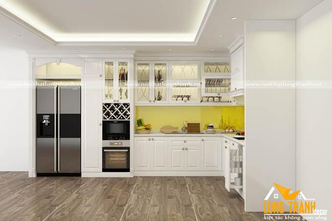 Tủ bếp gỗ Sồi Mỹ LT21