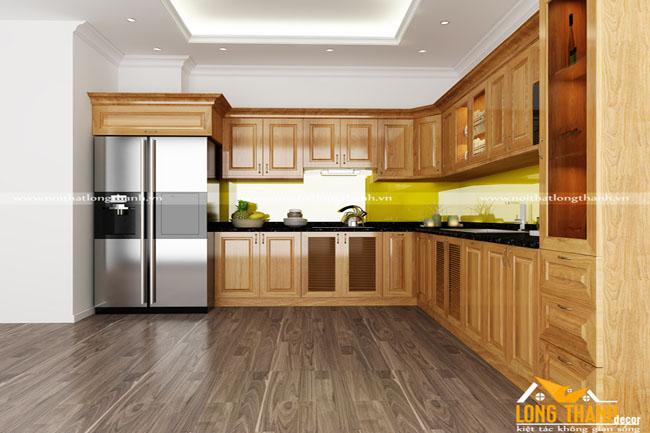 Tủ bếp gỗ sồi Mỹ LT25