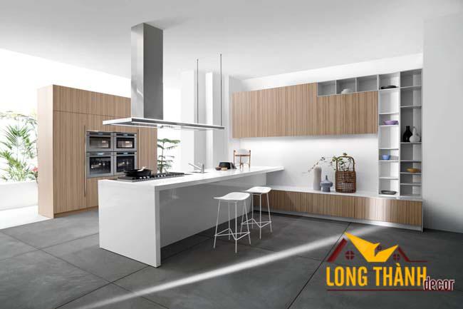 Tủ bếp gỗ veneer LT02