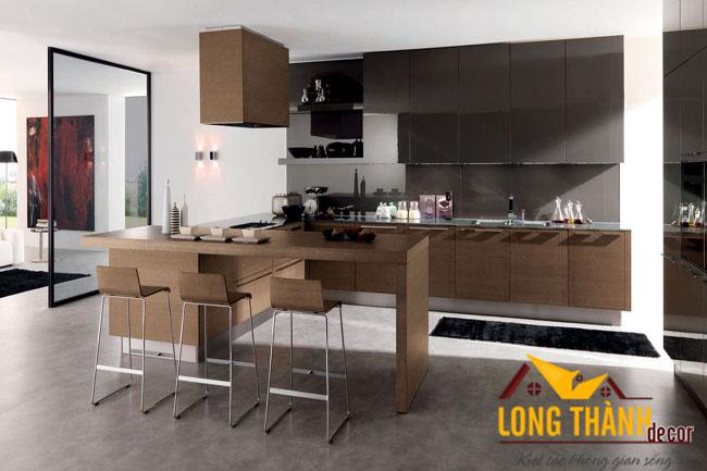 Tủ bếp gỗ veneer LT03