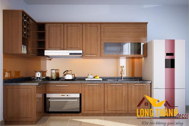 Tủ bếp gỗ Veneer LT04