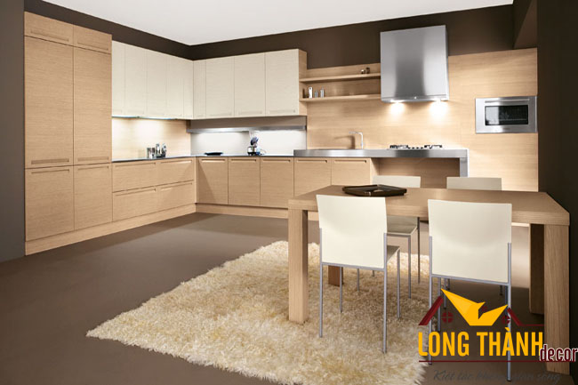 Tủ bếp gỗ Veneer LT06