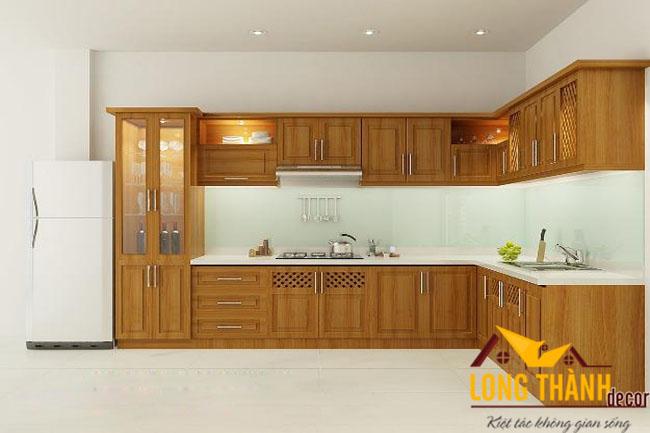 Tủ bếp gỗ Veneer LT07