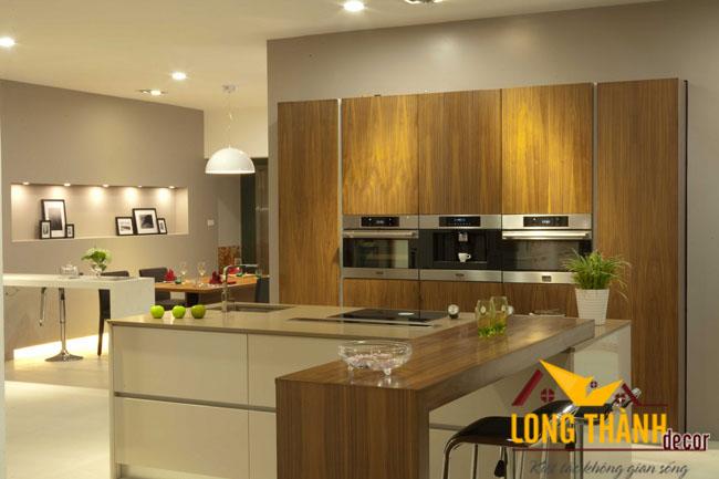 Tủ bếp gỗ veneer LT08