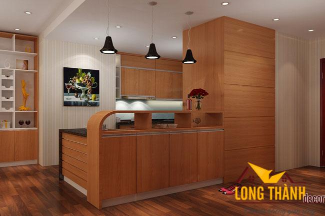 Tủ bếp gỗ Veneer LT10