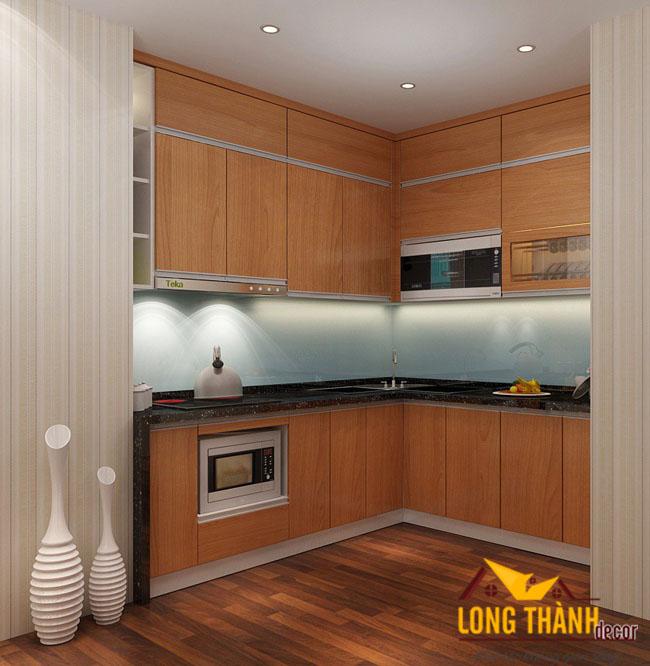 Thiết kế nội thất tủ bếp gỗ Veneer LT10