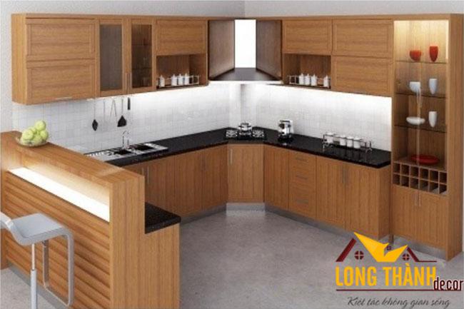 Tủ bếp gỗ Veneer LT11