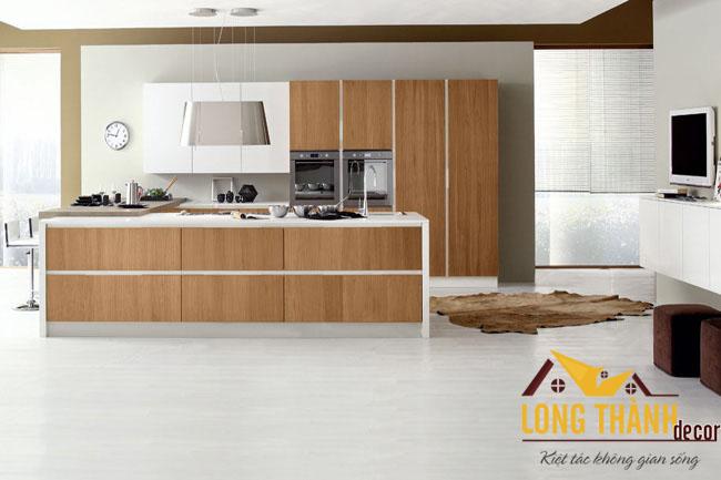 Tủ bếp gỗ Veneer LT12