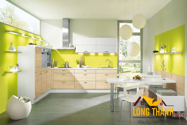 Tủ bếp gỗ Veneer LT14