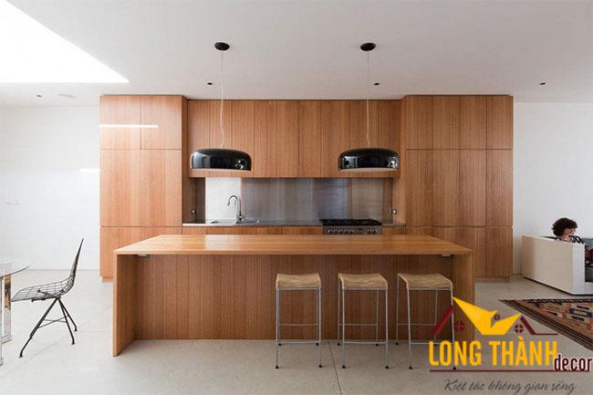 Tủ bếp gỗ Veneer LT15